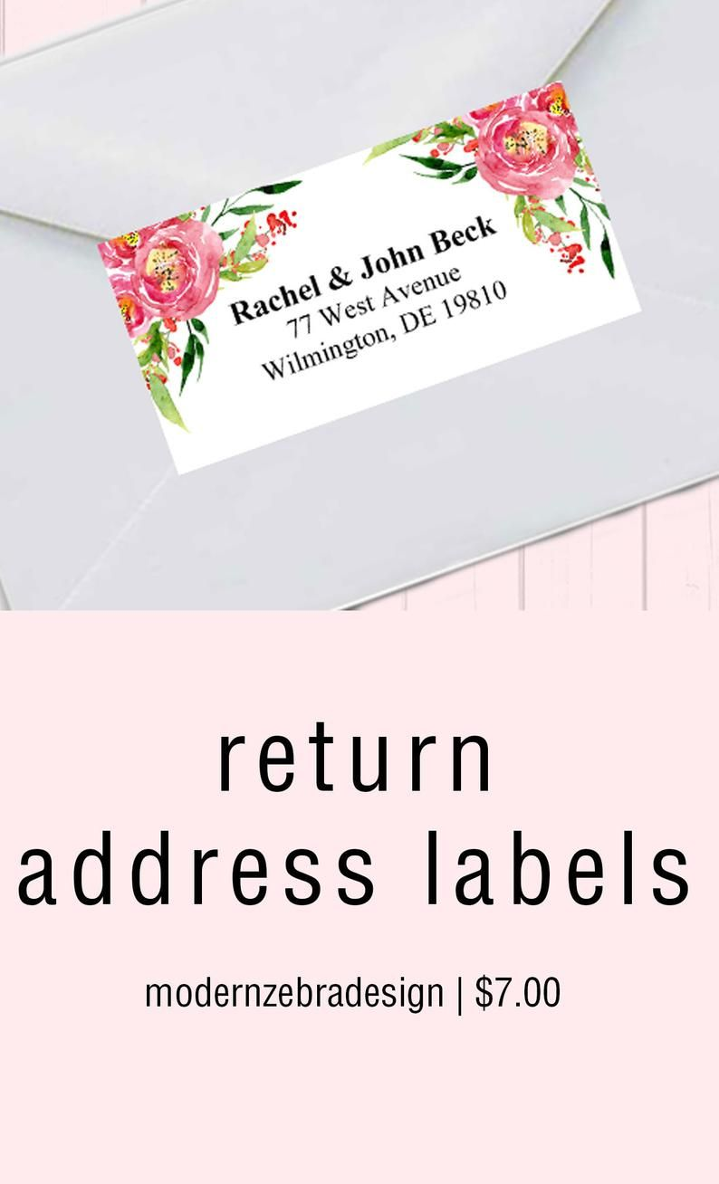 Personalized Return Address Stickers Mary Rosh