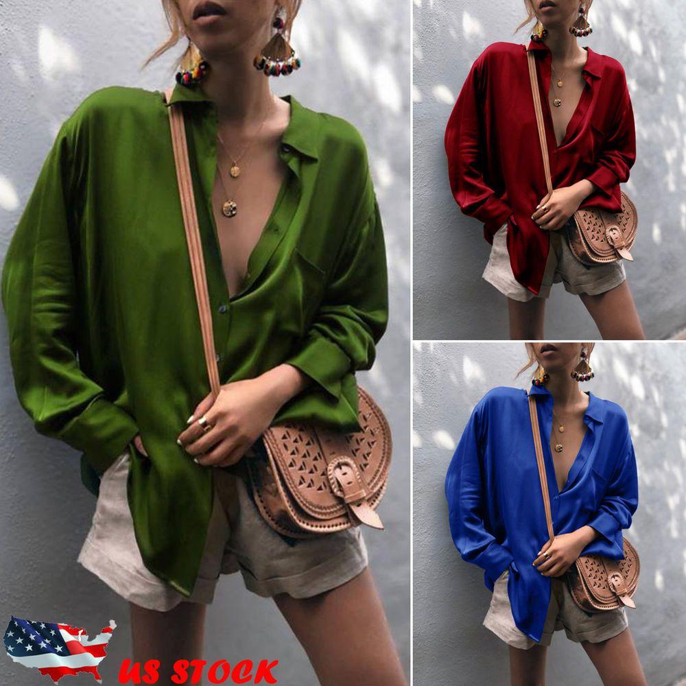 3c2593bc9fd US-DEALS Fashion Summer Women Casual Chiffon Long Sleeve Ladies Shirt Loose  Tops Blouse: $11.99 End Date: Thursday Feb-7-2019…%#USDeals%