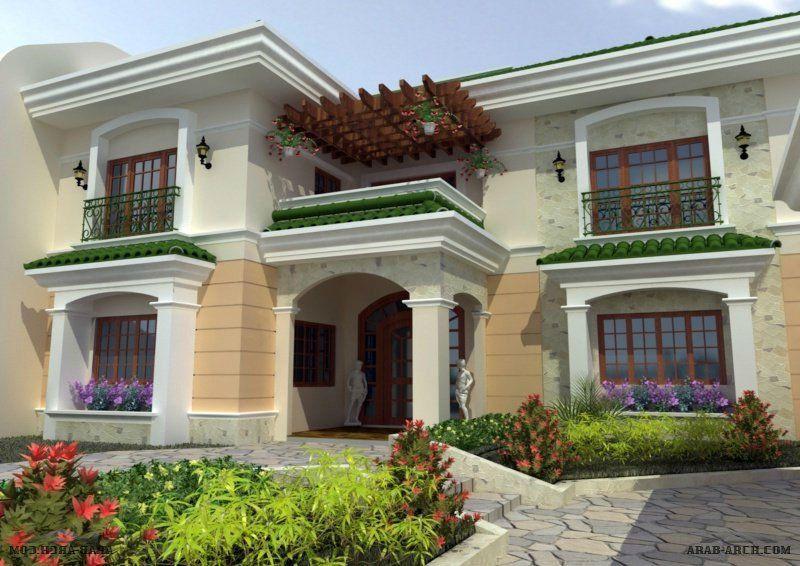 اشكال فلل جديدة ومتميزة House Styles House Mansions