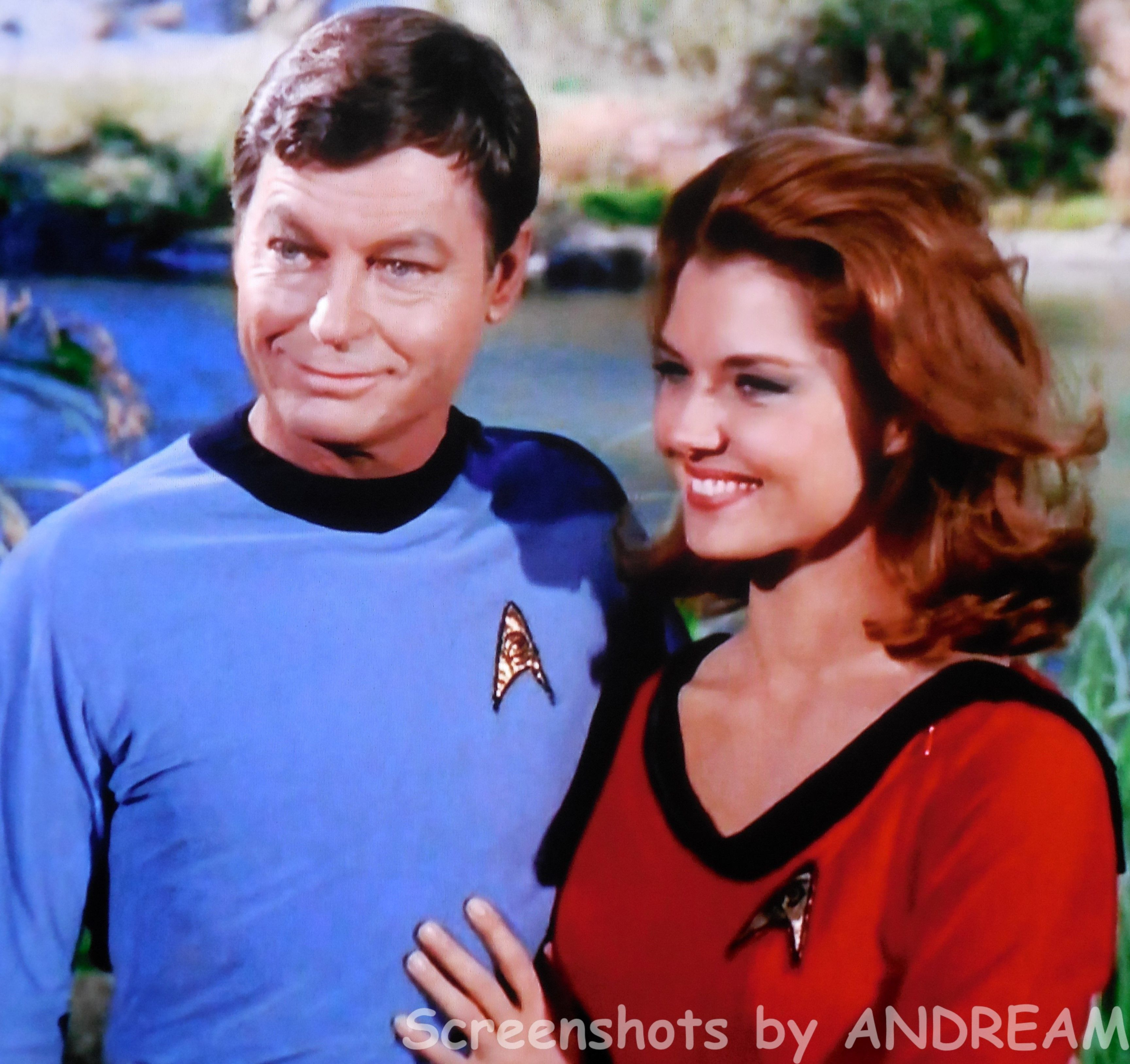 Dr. McCoy And Yeoman Tonia Barrows DeForest Kelley And