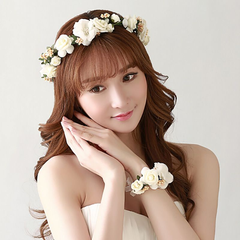 Mode Braut Blumen Hoop Headwear Hohe Qualitat Kunstliche Jasmin