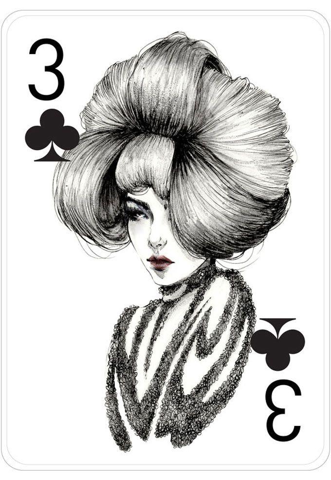 As Cartas Inspiradas Em Moda E Mulheres Por Connie Lim Arte Cartas De Jogo Cartoes Artisticos Producao De Arte