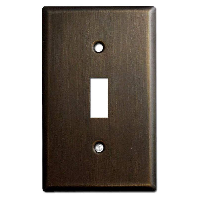 1 Toggle Light Switch Plates Oil Rubbed Bronze Toggle Light