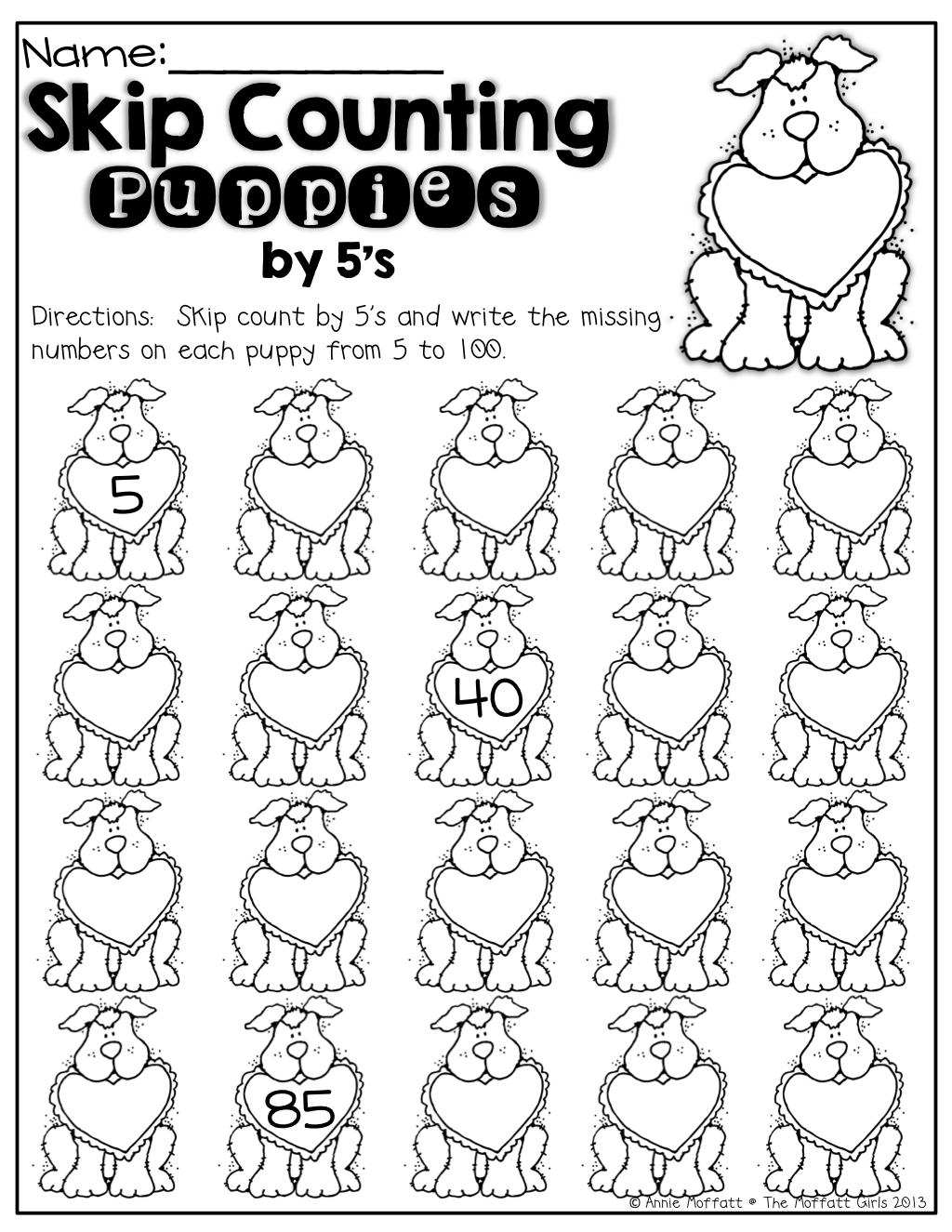 February No Prep Packet Kindergarten Kindergarten Math Activities Counting In 5s Math Activities [ 1325 x 1024 Pixel ]