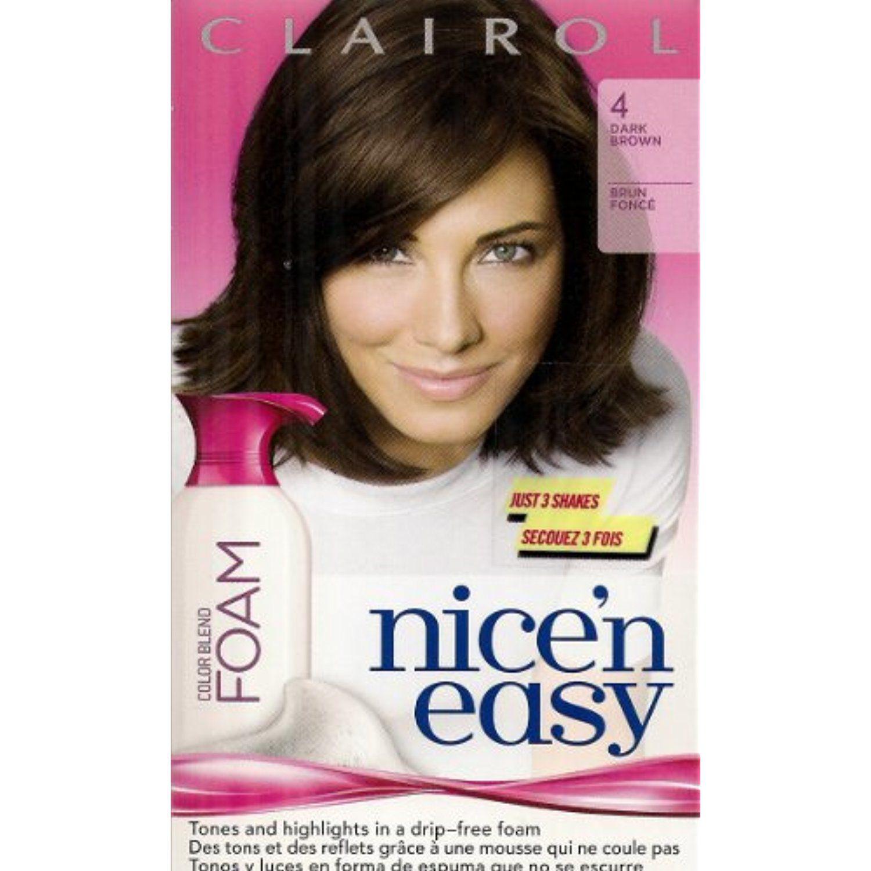 Clairol Nicen Easy 4 Dark Brown Color Blend Foam Hair Color