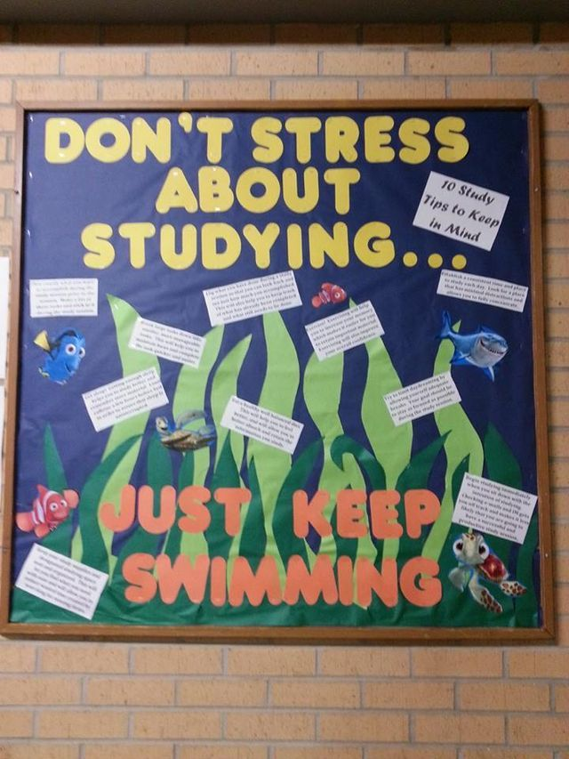 Finding Nemo Themed Bulletin Board About Stress And