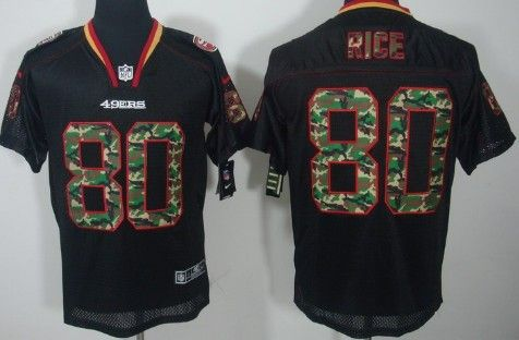 2a50ae26a06 ... wholesale nike san francisco 49ers 80 jerry rice black with camo elite  jersey 2013 super bowl
