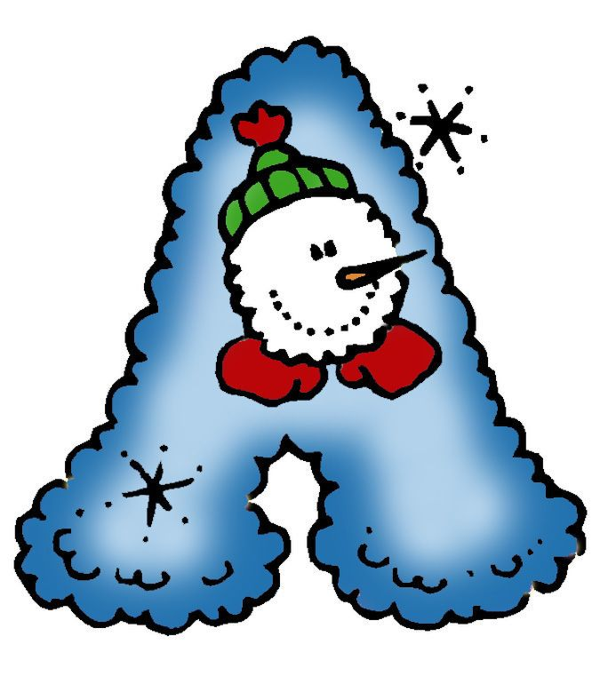 Pin by I T on Letters & Numbers - Winter | Pinterest | Clip art ...