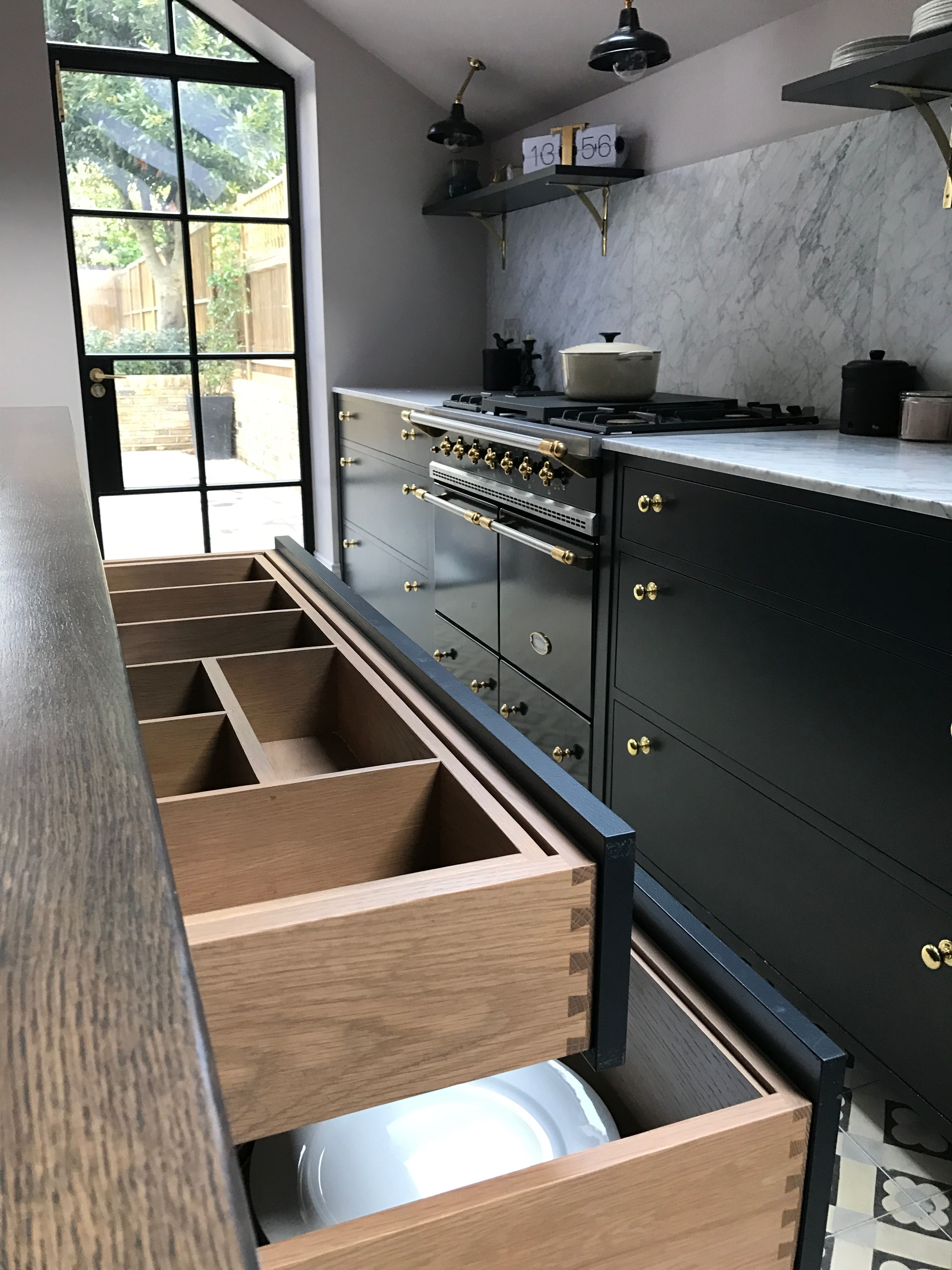 Bespoke kitchen by 202 design with queens park design build painted shaker farrow