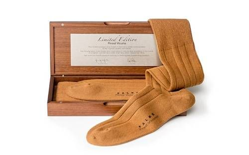 Falke have just issued a pair of socks that cost $800 made from vicuna. They even come in their own limited edition wooden box that you can store them in after you bring them back from the dry cleaners.