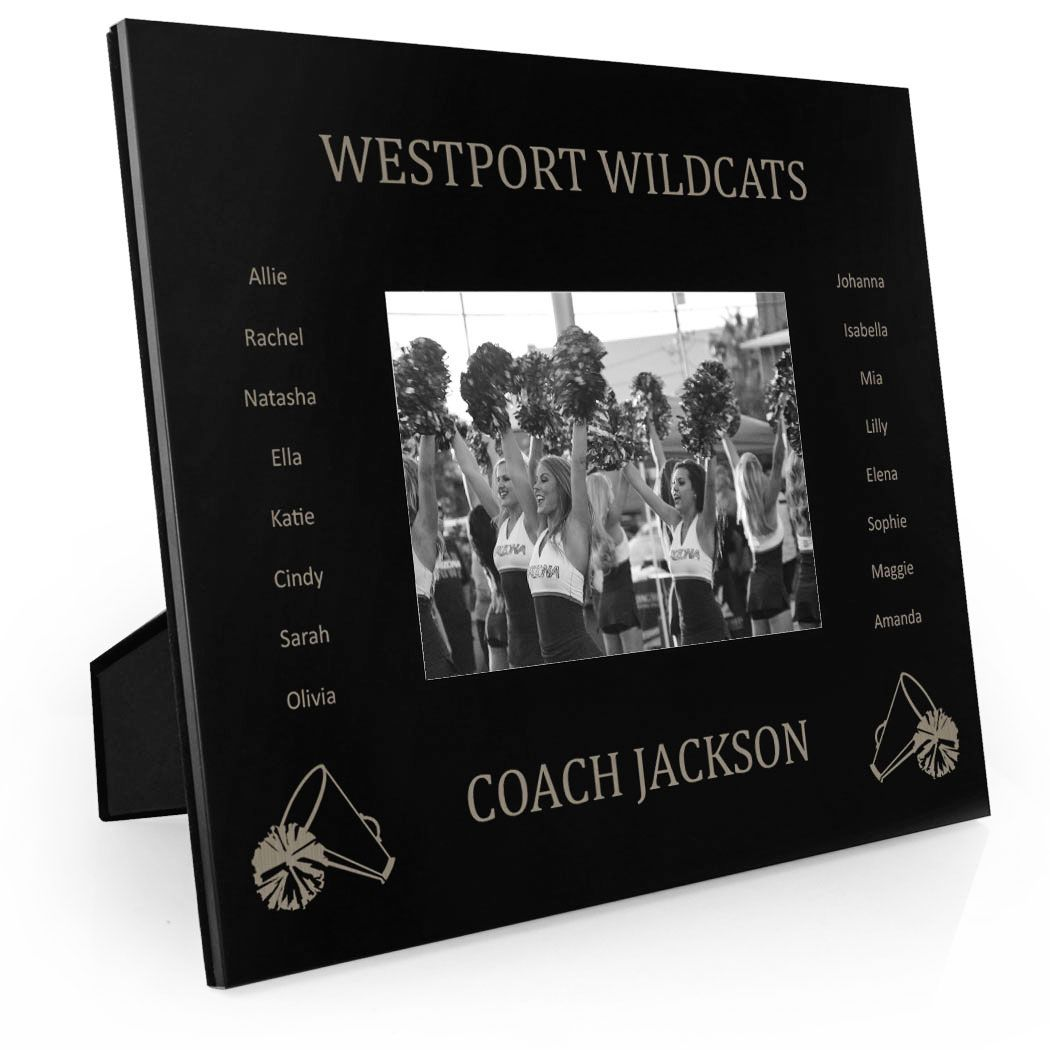 Cheerleading Engraved Picture Frame - Team Name With Roster (Coach ...