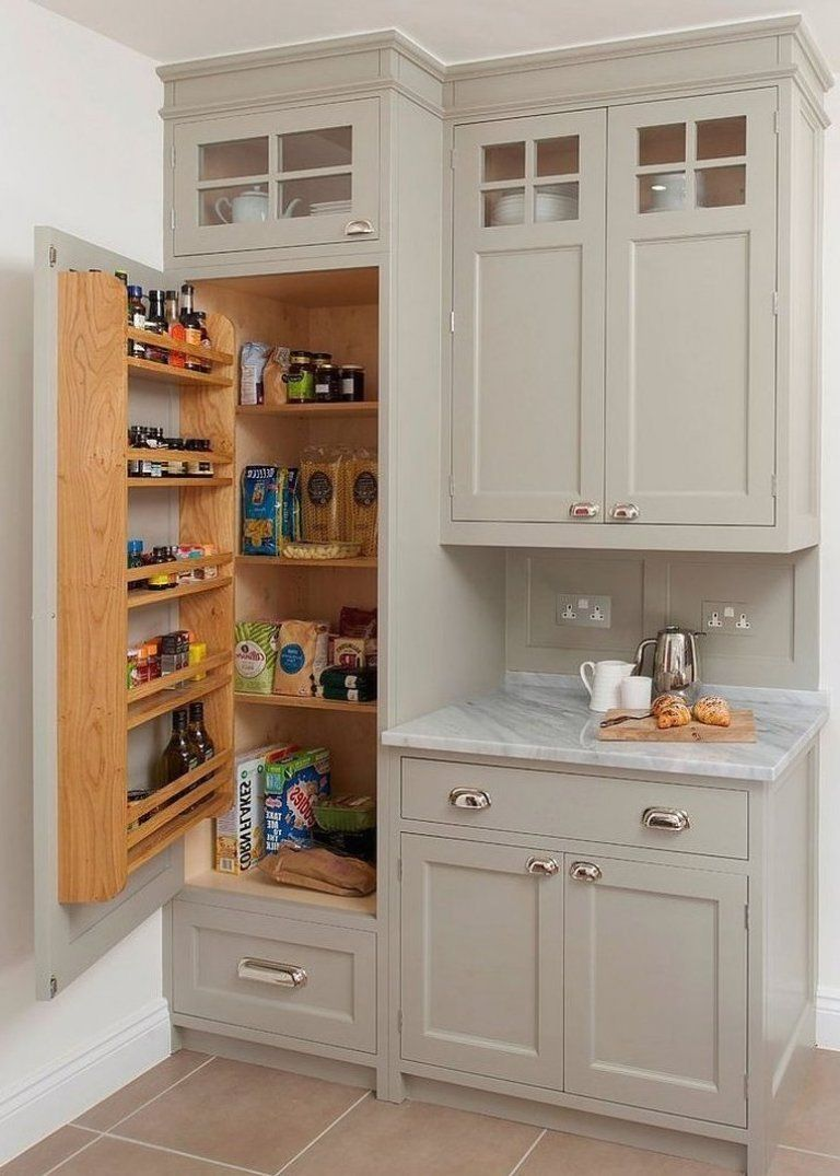 Traditional Kitchen Cabinet With Pantry Built Into It In 2020 Traditional Kitchen Cabinets Traditional Kitchen White Kitchen Design