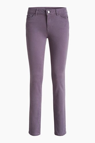 Esprit 4-way-stretch shaping jeans skinny dark mauve paars spijkerbroek  jeans purple mauve