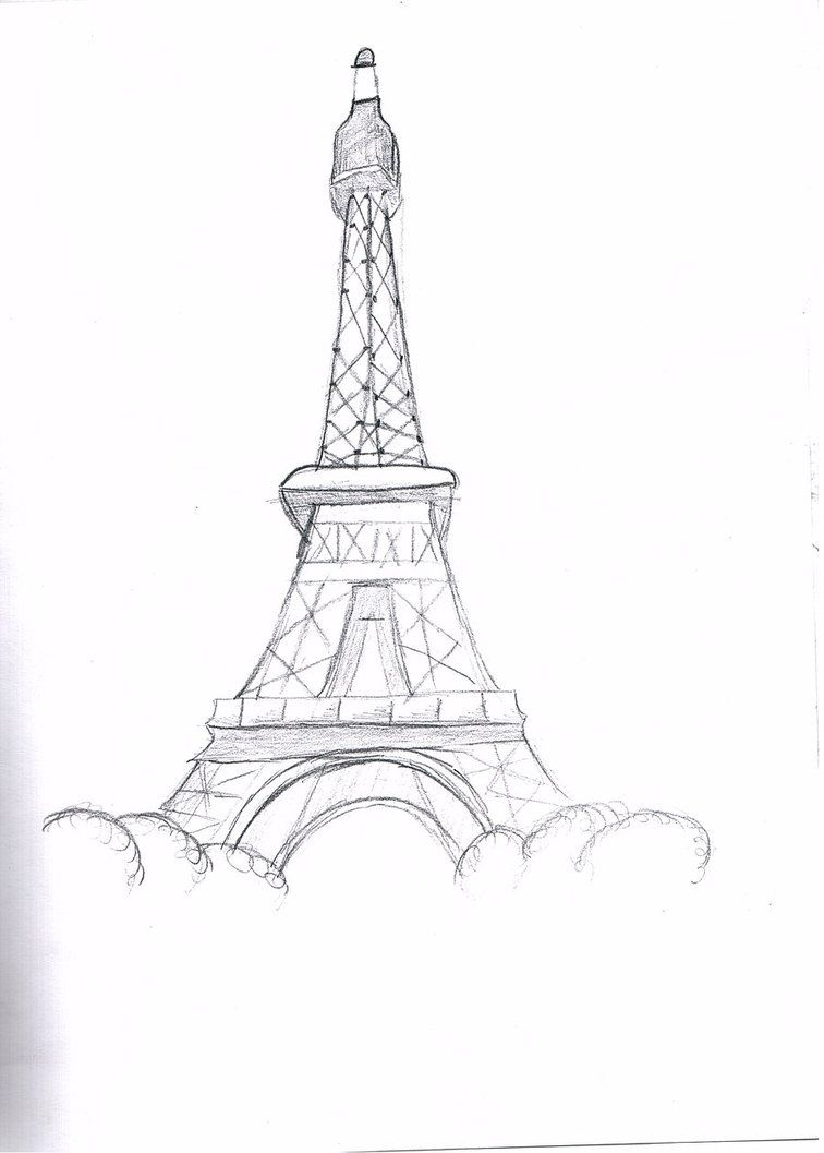 Eiffel Tower Pencil Sketch eiffel tower drawings ...