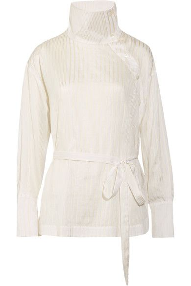 c8ef43b519 Stella McCartney - Caterina Cotton And Silk-blend Jacquard Blouse ...
