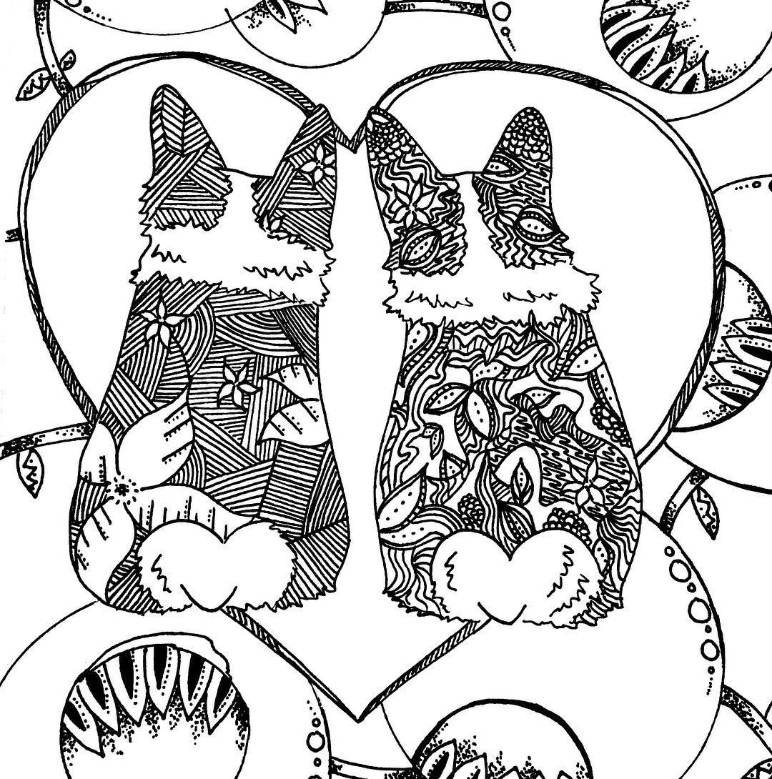 We Are Slowly Working On Images For An Adult Corgi Coloring Book