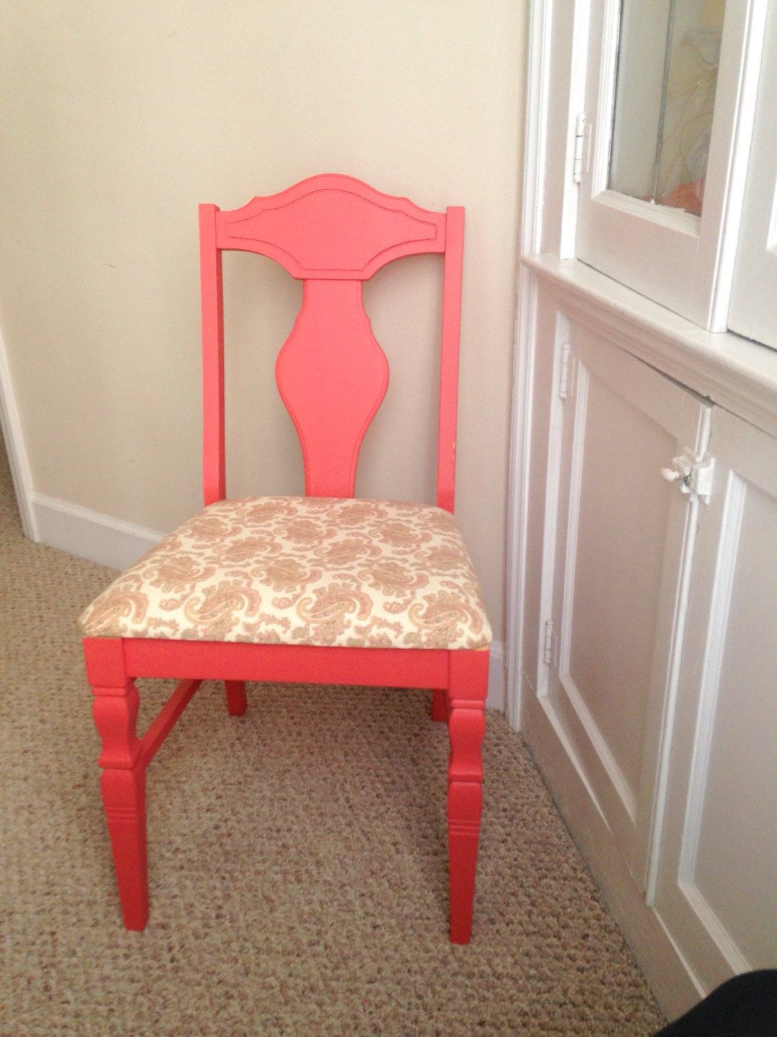 Delicieux Coral Upholstered Chair, Desk Chair, Accent Chair By 2BirdsVintage On Etsy  Https:/