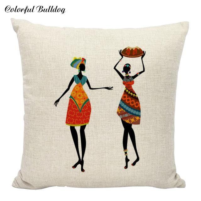 Classic African Throw Pillows