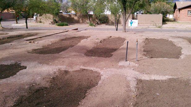 A modern Waffle Garden! University of Arizona plans a simple Community Garden that saves water.