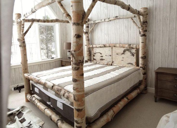 Schlafzimmer Grüne Erde Birkenstamm Google Search полки Canopy