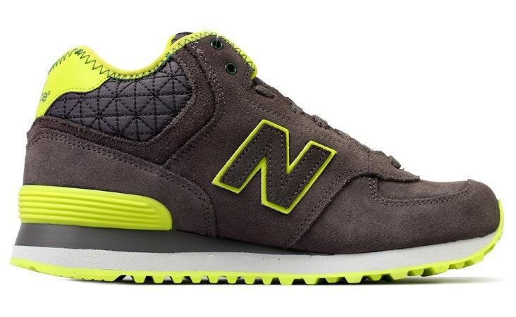 New Balance Shoes Cheap Hot - WH574WGG Women Middle-cut Leather Green/Grey The New Balance Shoes Can
