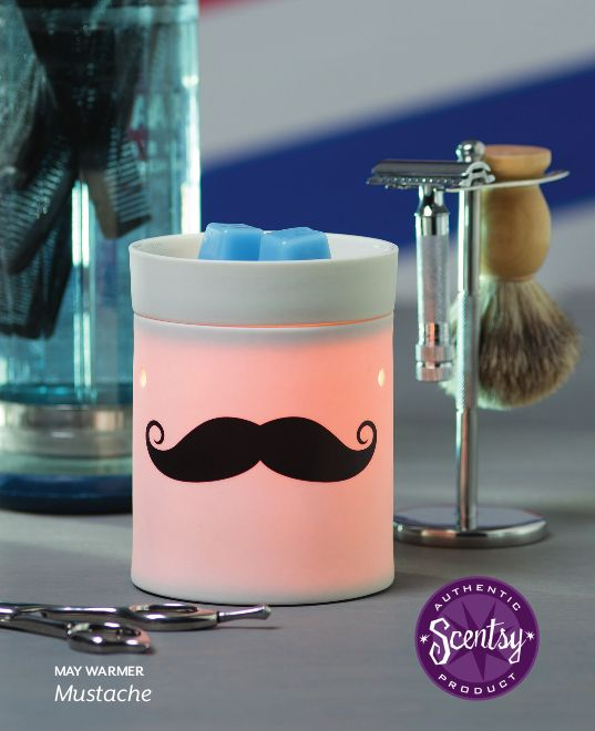 May 2014 Scentsy Warmer of the Month Mustache