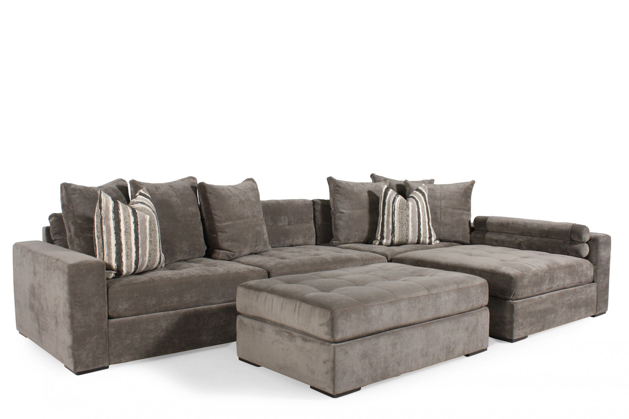 Jonathan Louis Noah Gray Sectional Mathis Brothers Furniture