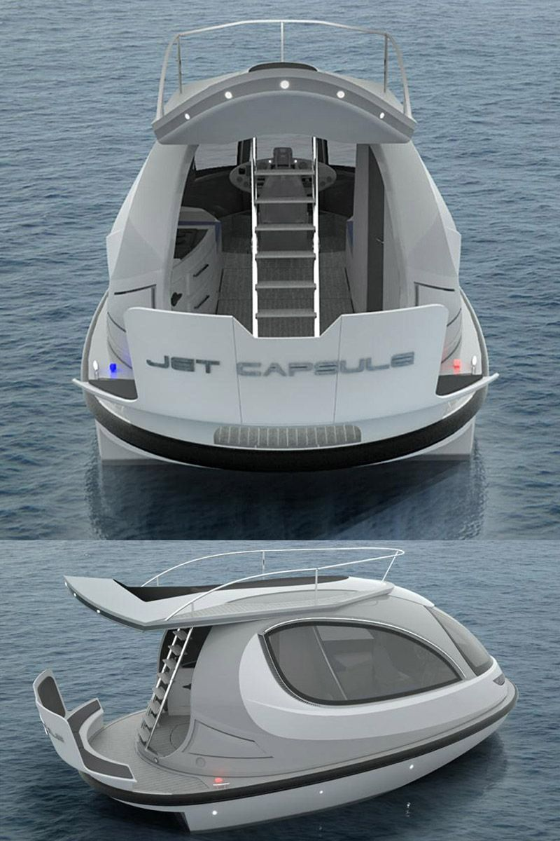 A jet ski and a yacht had a baby the new 2014 jet capsule for Jet fishing boat