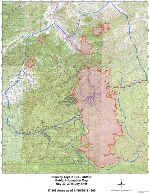 Map Of Gatlinburg Area : gatlinburg, Smoky, Mountain, Hiking, Blog:, Gatlinburg, Impact, Fire,, Gatlinburg,, Mountains
