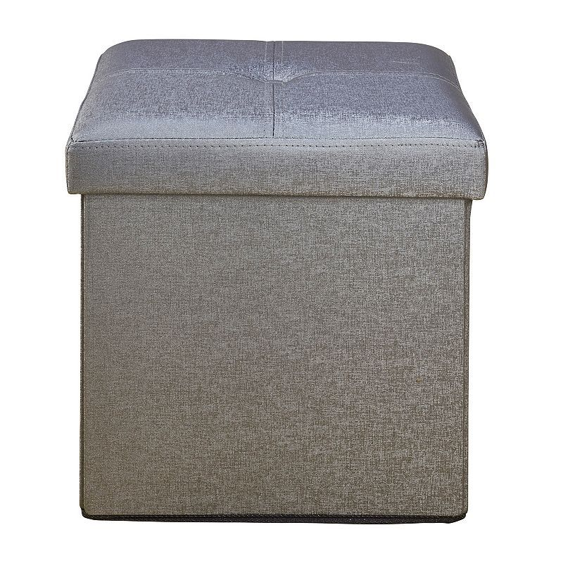 Super Simplify Faux Leather Folding Storage Ottoman Cube Ottoman Cjindustries Chair Design For Home Cjindustriesco