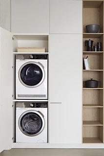 Mueble para lavadora y secadora cocinas interiorismo - Mueble para secadora ...