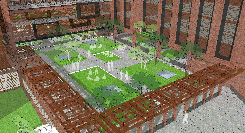 Landscape Design Perspective Sunken Garden Modern Landscape Urban Design Landscape Corridor And Entryw Urban Design Concept Urban Design Urban Design Plan