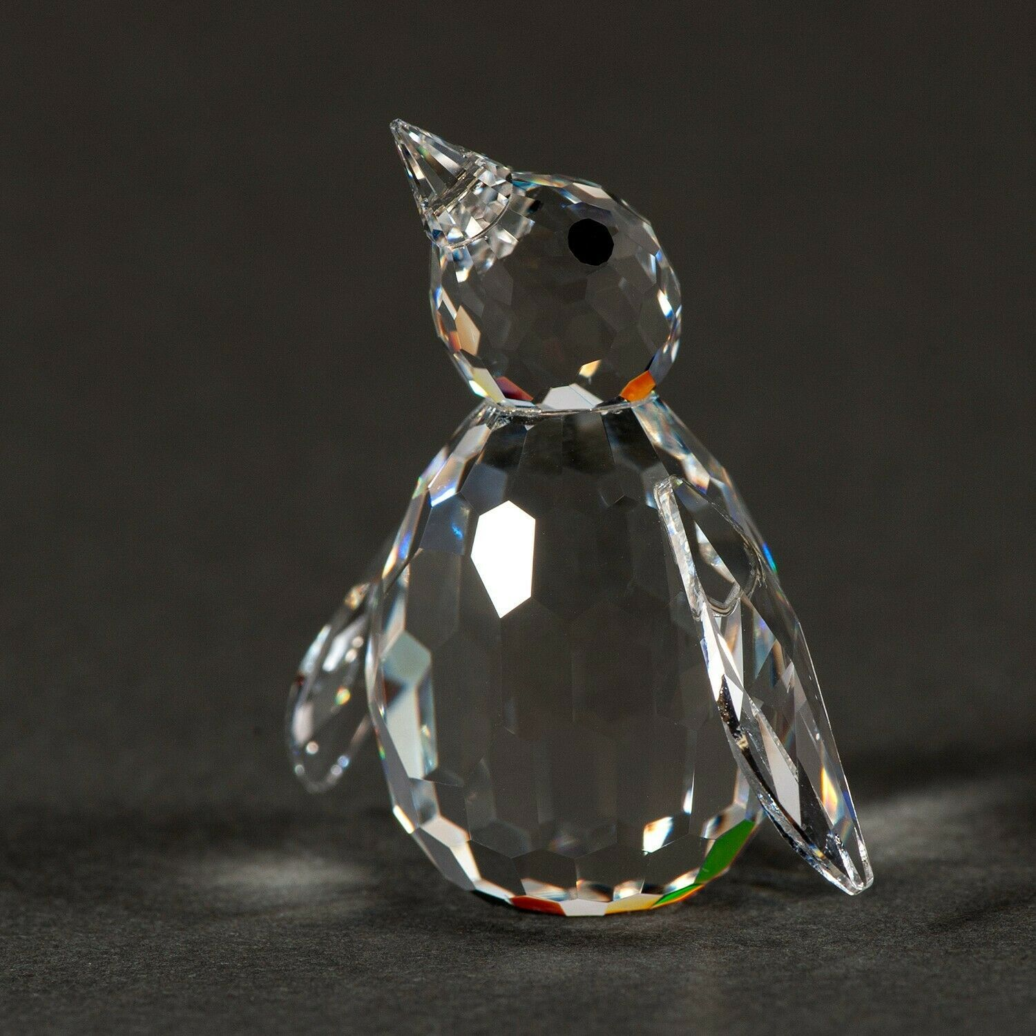 Swarovski Silver Crystal PENGUIN Figurine w/COA and