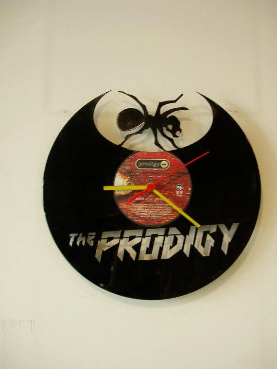 PRODIGY wallclock made of old used vinyl record. by TazinDizajn