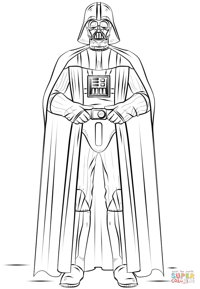Darth Vader Super Coloring Star Wars Drawings Star Wars Coloring Sheet Star Wars Colors