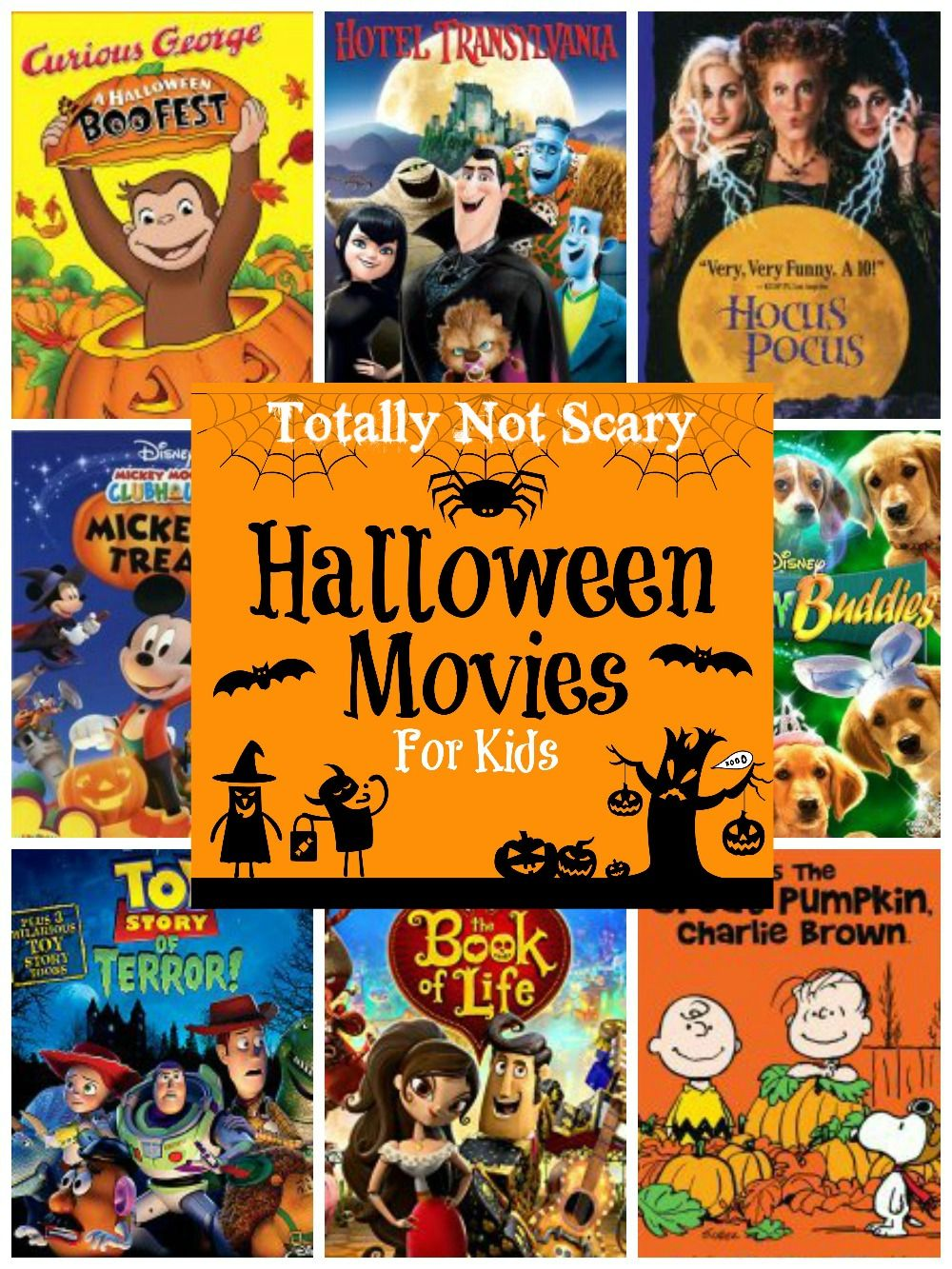 A round up of Halloween movies for kids- totally not scary film ...