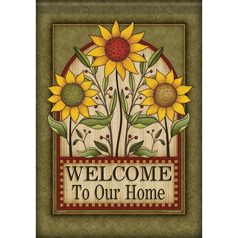 Sunflower Box Welcome Double Sided Flag | Sunflowers, Flags and Products
