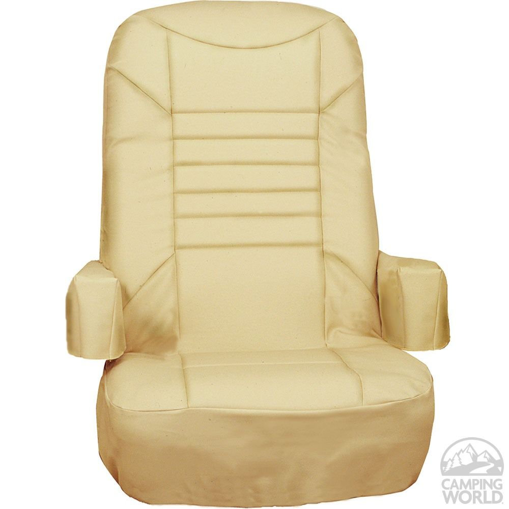rv captain chair seat covers small gaming s 2 pack tan designer c781 indoor chairs camping world 49 99
