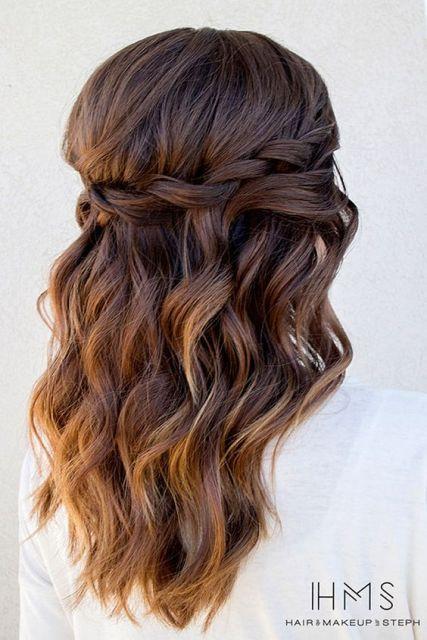 Prom Hairstyles Down Extraordinary Leicht Und Luftig Wasserfall Braid  Haare  Pinterest  Prom Hair
