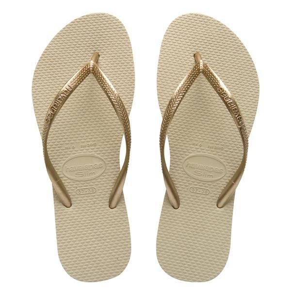 4cf37f4e2d704 Slim gold Havaianas - could live in them. Slim gold Havaianas - could live  in them Rose Gold Flip Flops ...
