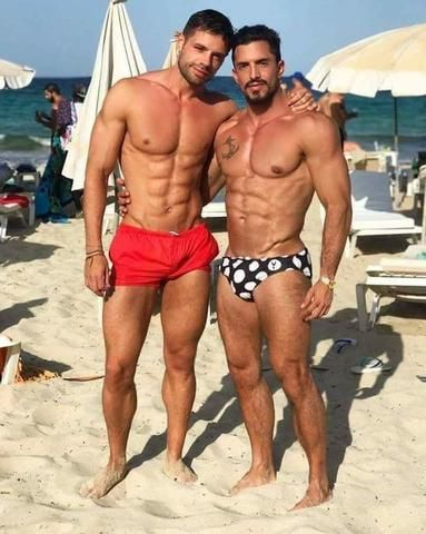 Gay hawiian guys on the beach