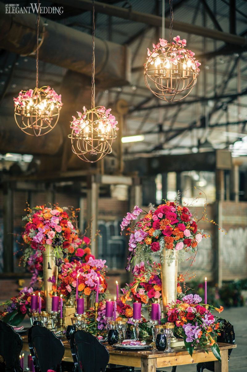 Edgy Alternative Wedding Flowers And Decor Urban Table