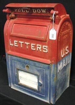 Post Office Mail Box Bridgeport Casting Cast Mailbox It Cast Bridgeport
