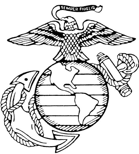 Free Coloring Pages Of Eagle Globe And Anchor Free Coloring