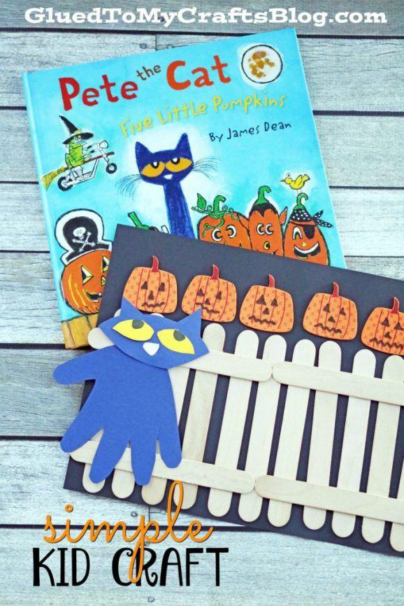 Five Little Pumpkins Kid Craft Idea Five little