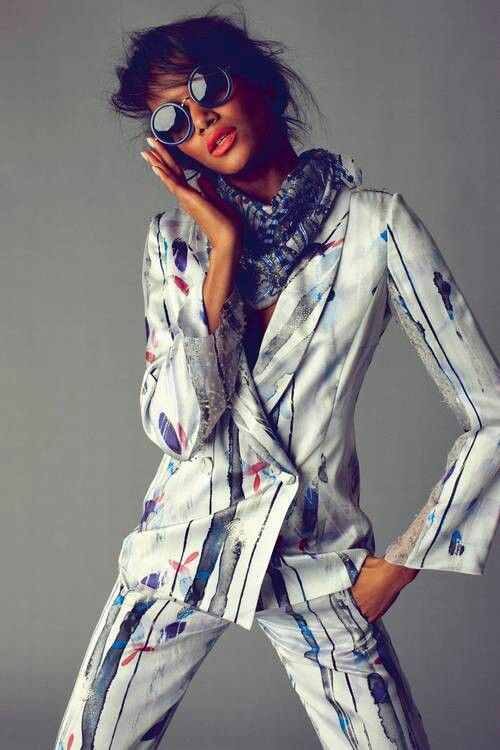 Love this colourful suit by linda farrow