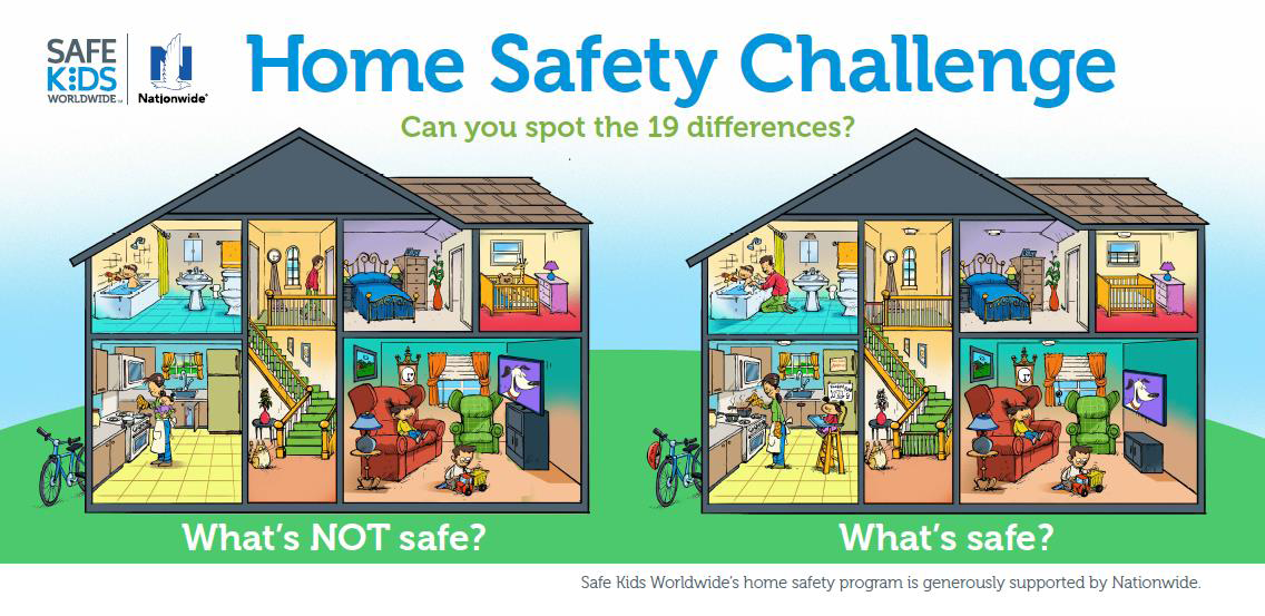 HomeSafetyChallenge.png (1136×553) Safe kids worldwide