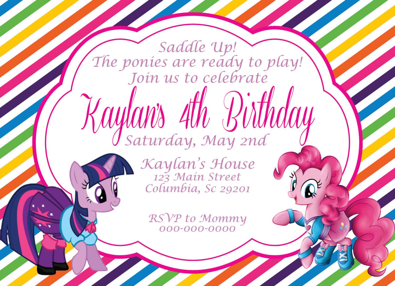 My Little Pony Birthday Invitation by NJAMDesigns on Etsy ...