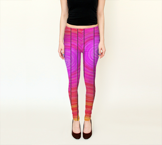 Solar Stutter Leggings, by Peter Gross, #artofwhere #fashion #style  #Solar #Stutter #Leggings #artistic #unique #pattern #petergross