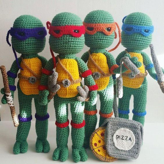 Free Crochet Pattern Teenage Mutant Ninja Turtle Pattern Ninja